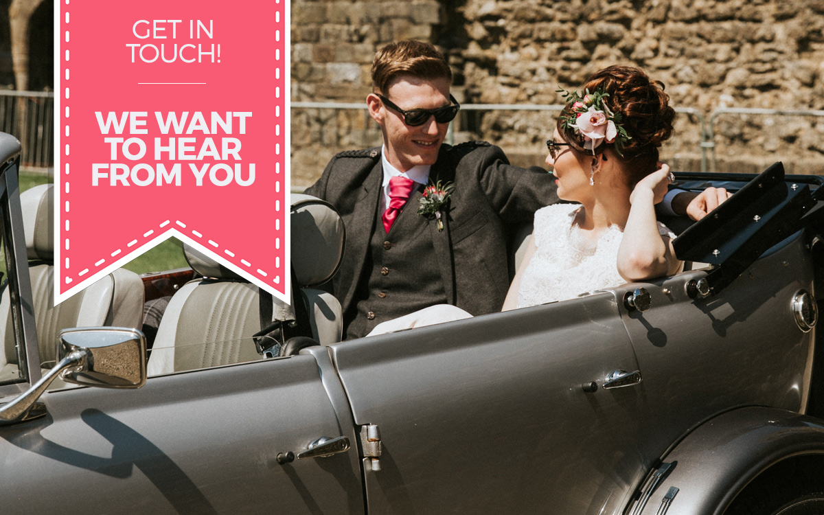 Contact Glasgow Wedding cars - we want to discuss your dream wedding