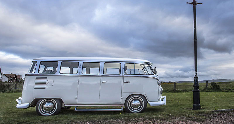 Wedding car hire in Glasgow - VW Camper
