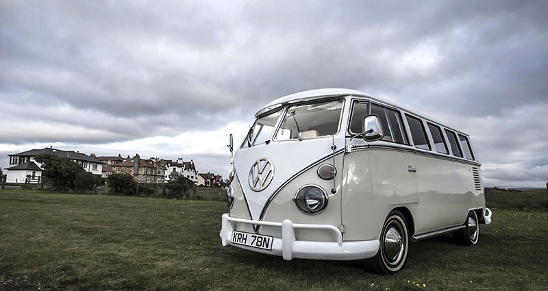 Splitscreen vw camper for weddings in glasgow