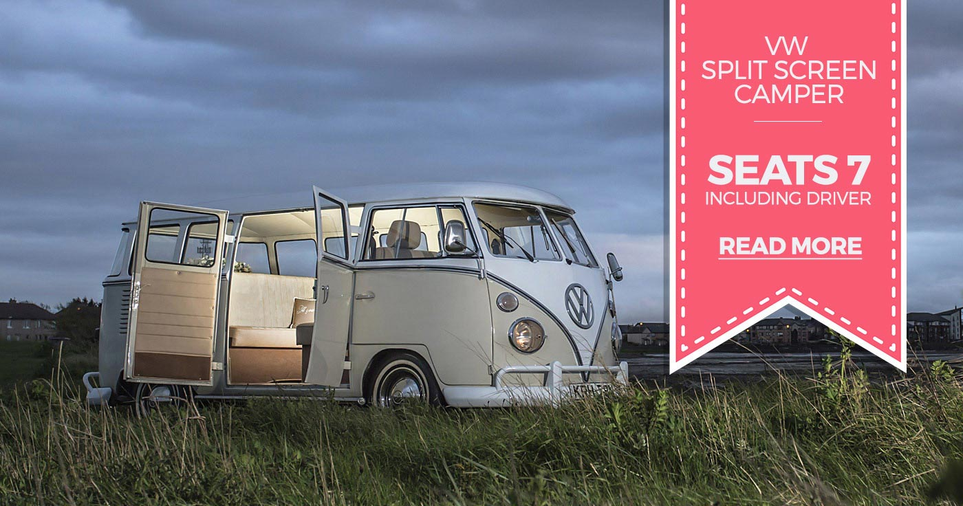 vintage vw camper for wedding hires