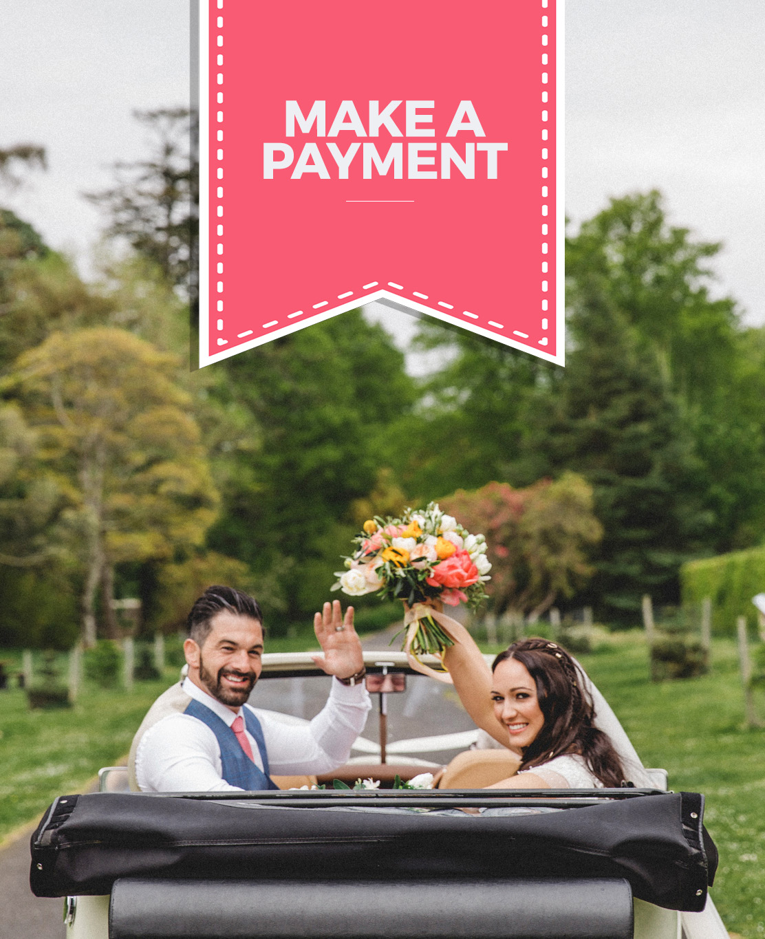 make a payment to glasgow wedding cars