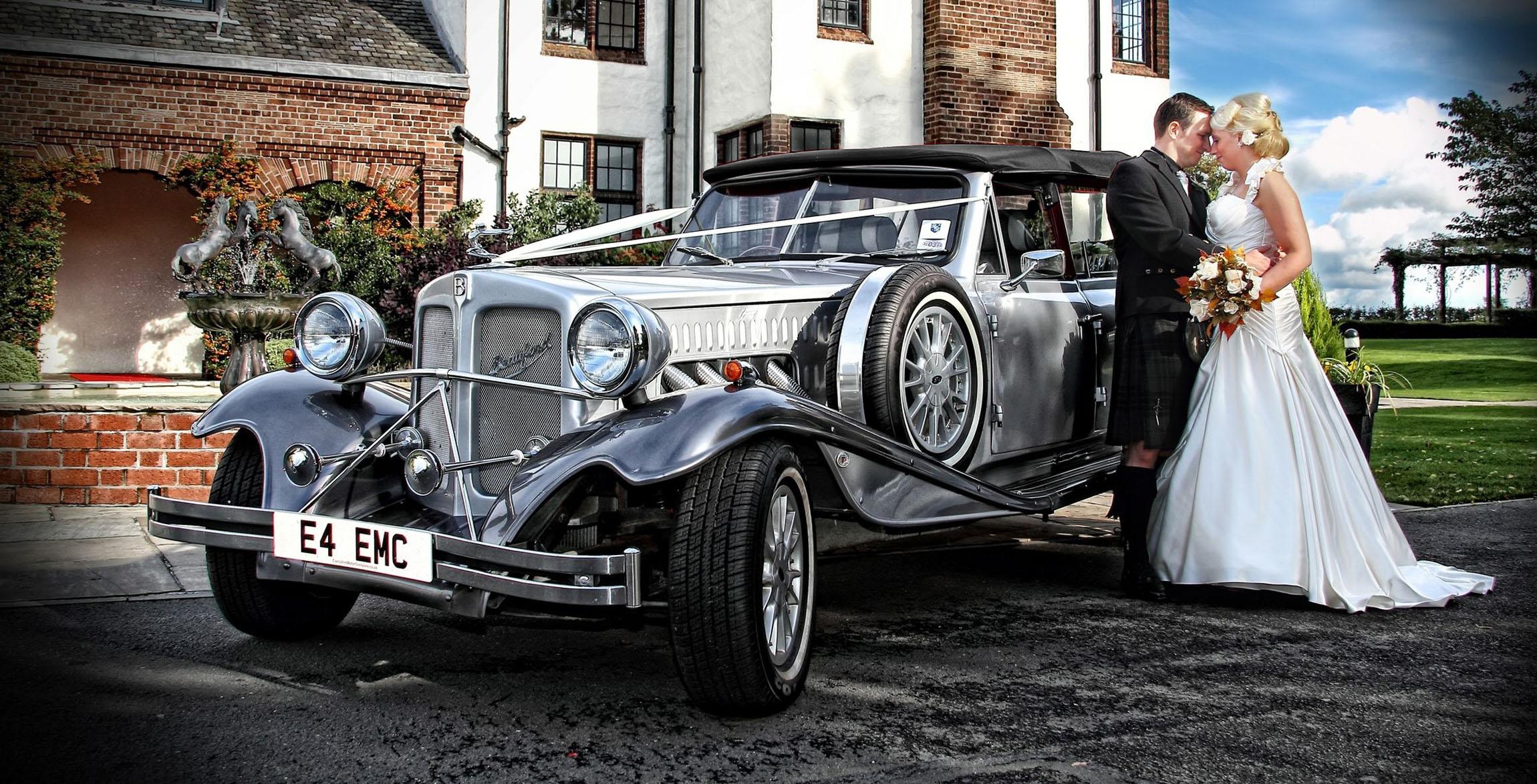 silver beauford bridal car glasgow