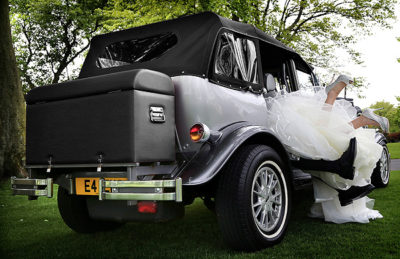 Silver Beauford bridal cars glasgow